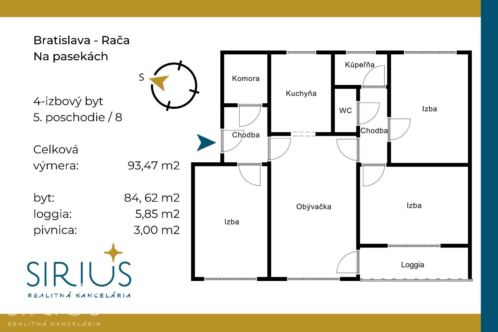 NA PASEKÁCH, 4-i byt, 93 m2 – loggia s nádherným výhľadom