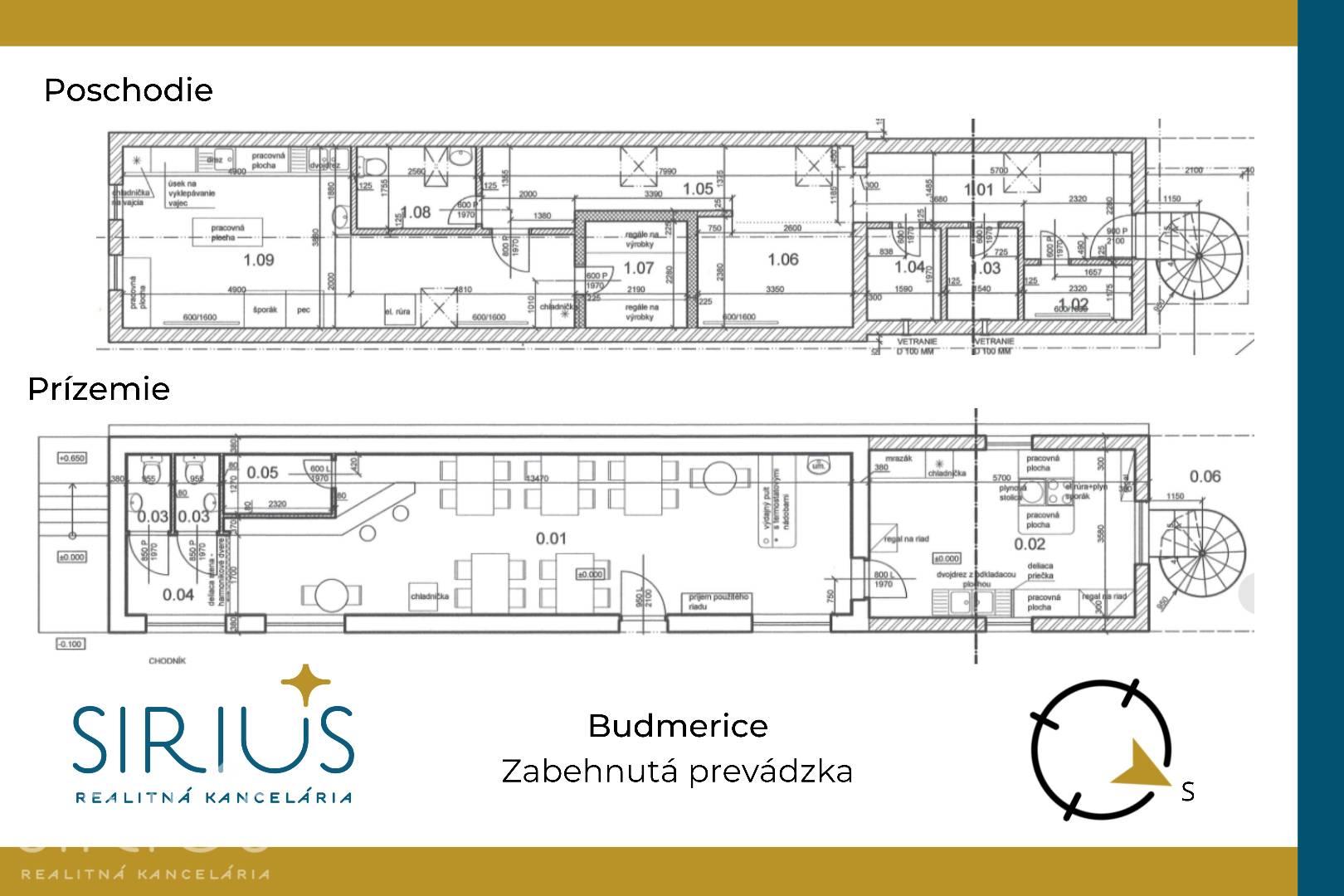 BUDMERICE, 161 m2 – UNIVERZÁLNY PRIESTOR na námestí